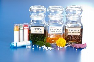Children's Health Various plant extract in bottles and homeopathic medication