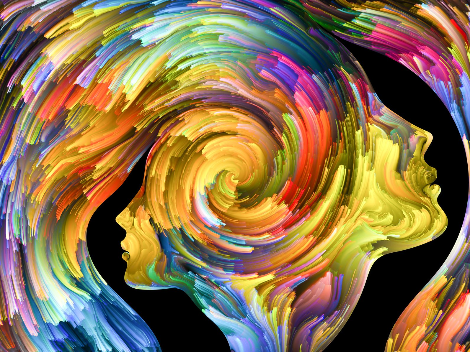 psychology multi coloured swirl