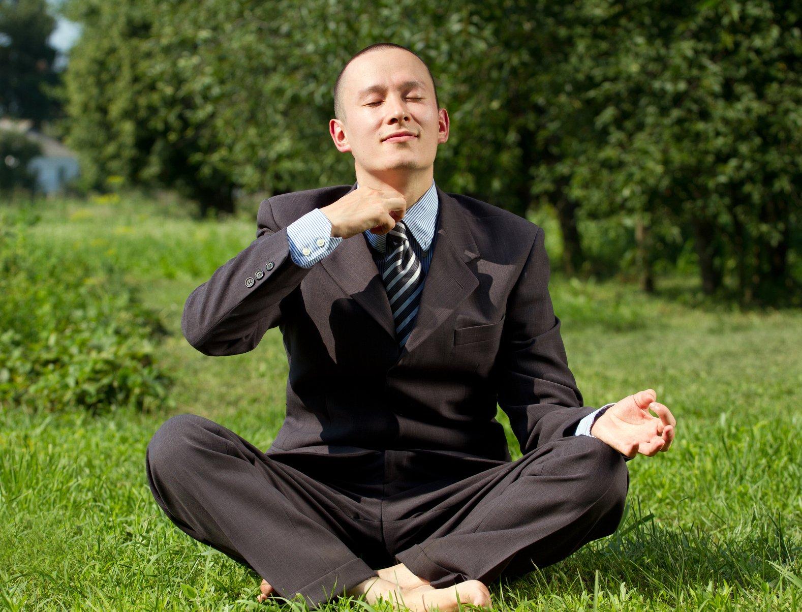 depression - man meditating