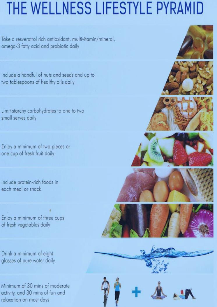 winter wellness Lifestyle Pyramid